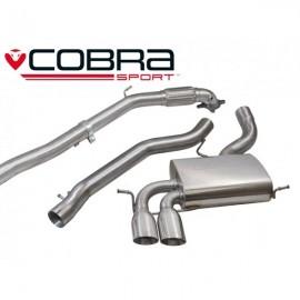 Εξάτμιση από turbo και πίσω της Cobra Sport για Audi A3 (8P) 2.0 TFSi Quattro 3-Doors De-Cat Χωρίς Μεσαίο Καζανάκι