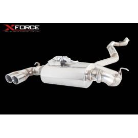 Εξάτμιση από καταλύτη και πίσω της XForce για BMW F20 125i 2011+ 63mm